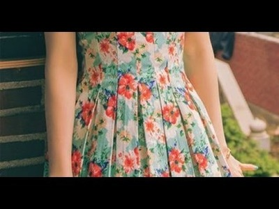 How to make box pleated dress tutorial (english subtitles)