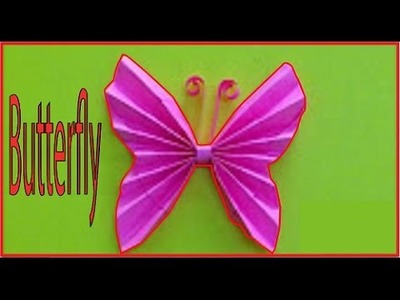 How to make butterfly DIY paper ! Easy making origami butterfly in 2 minuits for beginners |