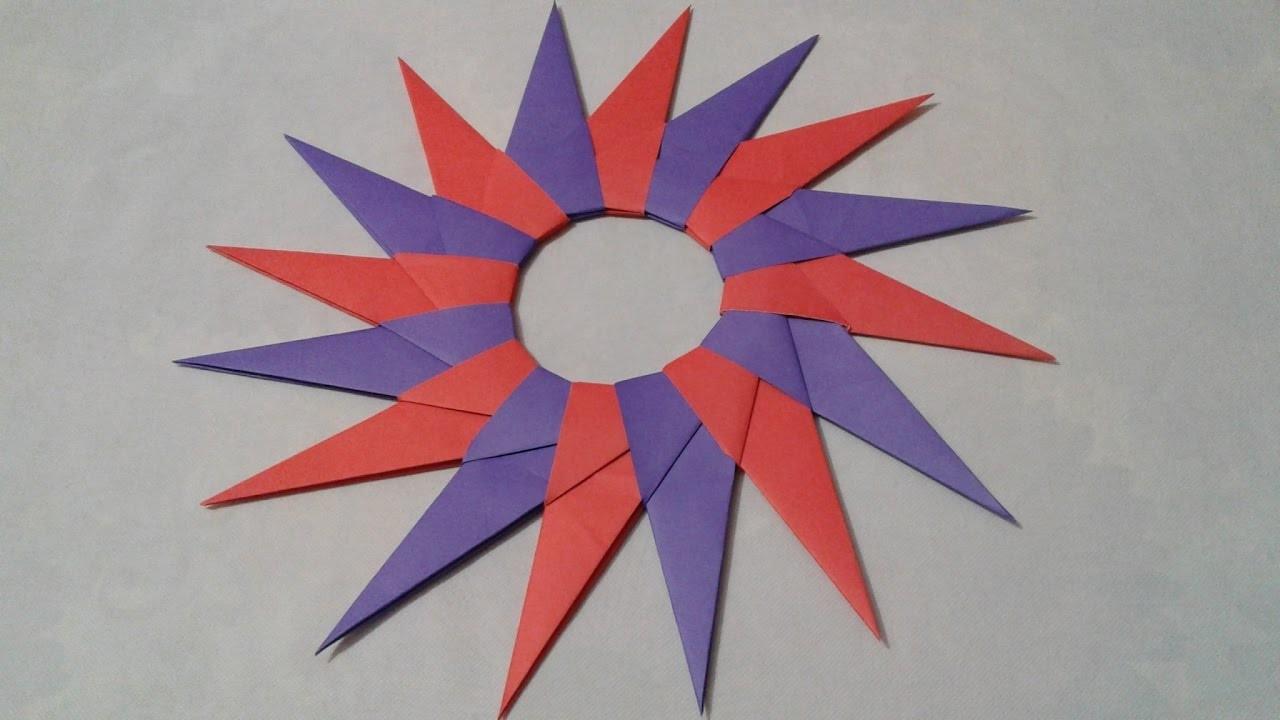 How to Make Corona NINJA STAR with paper at home