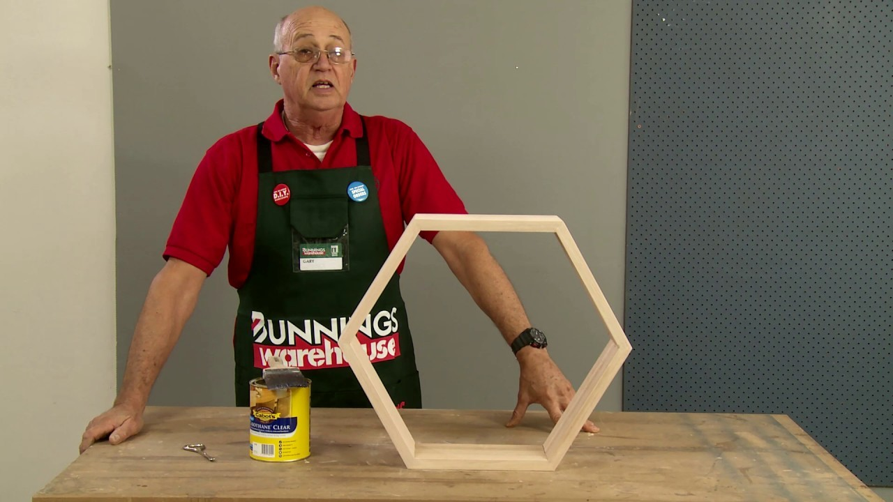How To Make D.I.Y. Honeycomb Floating Wall Shelves - D.I.Y. At Bunnings