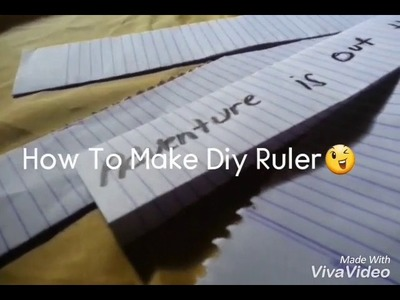 How To Make Diy Ruler(Made up of Paper)
