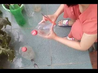 How to make flower pot from a coca cola botle