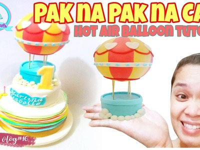 HOW TO MAKE HOT AIR BALLOON CAKE TOPPER| Shashu Vlogs (Pinoy vlogs)