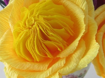HOW TO MAKE JULIA CHILD ROSES USING CREPE PAPER