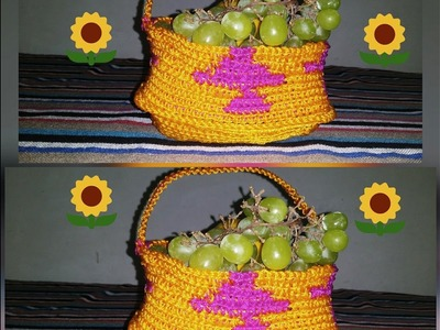 How to make macrame basket.at home very simple design