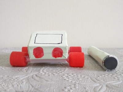 How to make magnetic car with matchbox at home - diy life hacks