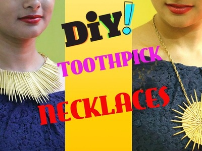 How to make Necklace with toothpicks .