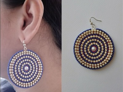 How to make Paper Earrings | Earrings made out of paper | Party wear earrings | DIY. Design 1