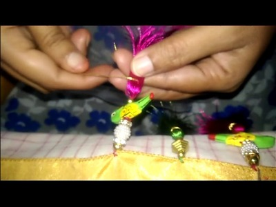 How To Make Saree Kuchu with parrots