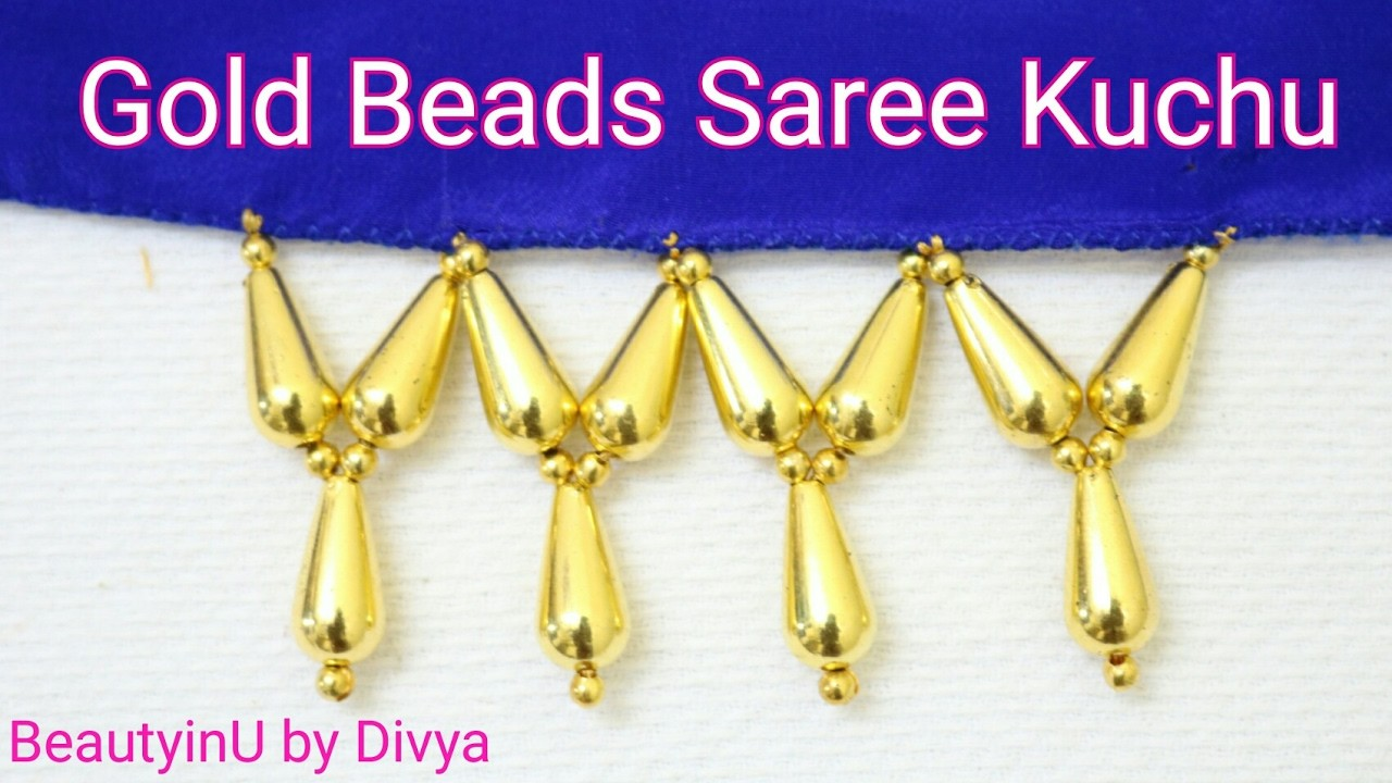 How To Make Simple Easy Saree Kuchu Design Using Gold