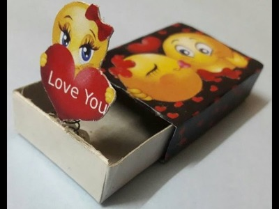How to make surprise gift for ur bf.surprise handmade gift out of waste materials.matchbox craft????