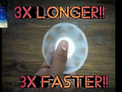 How to make your fidget spinner spin faster.longer!!