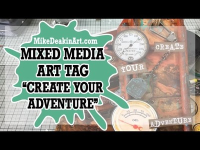How to: Mixed Media Steampunkery Art Tag