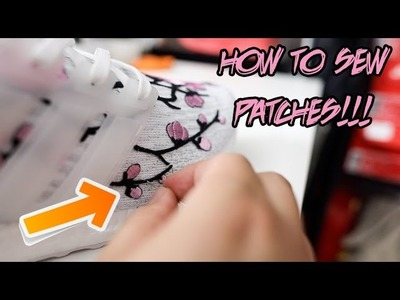 HOW TO SEW CUSTOM PATCHES ON SNEAKERS TUTORIAL!!! (REALLY EASY)