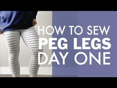 How to Sew Peg Leg Leggings Day One | DIBY.Club