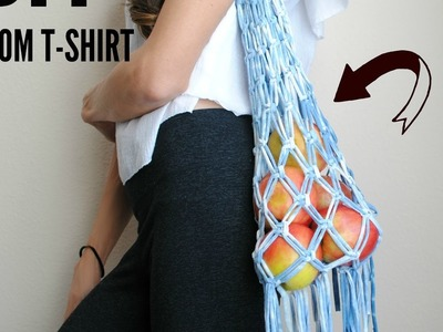 How to:  Turn a T-shirt into Macramé Market Bag