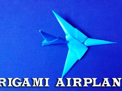 Origami #AirPlane: How to Make #Origami Air Plane #PaperCraft