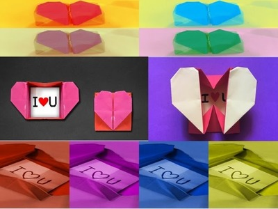 Paper heart box secret message   Heart Box With Surprise Ring for Valentines Day   Super easy DIY