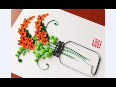 Paper Quilling Flower For beginner Learning Video 20. Paper Flower Design