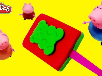 Play Doh Creation - How to Make Gummy Bear Popsicles