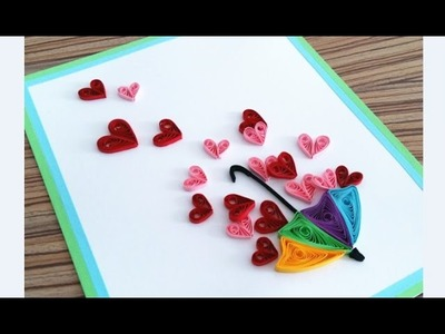 Quilling Heart For Valentine's Day Gift Ideas4. Paper Card