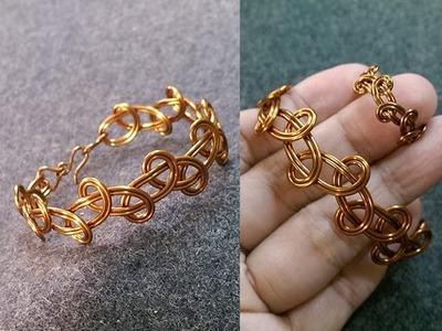 Simple knot bracelet - How to make wire jewelery 236