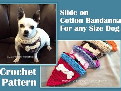 Slide On Cotton Bandanna Crochet Pattern