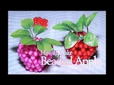 কিভাবে পুঁতির আপেল বানায়|How to make Apple with Bead| diye apple|||how to make a perler bead apple