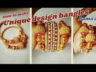 Unique design bangles - how to make bangles   jewellery tutorials