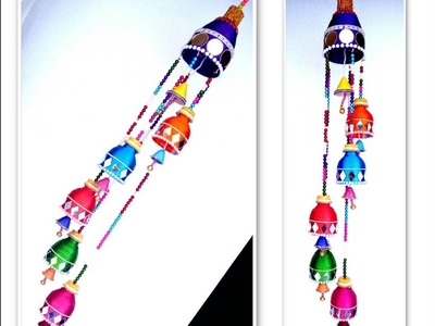 Wind chime out of Plastic Bottle | wall hanging | best out of waste  | silk thread jhumar