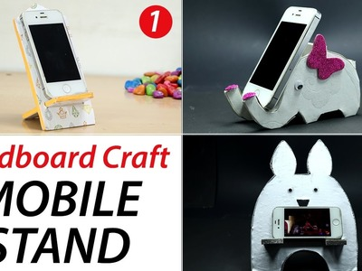 3 DIY Phone Stand: Cardboard Mobile Holder Craft, Best Out of Waste, Home Decor, DIY Hacks