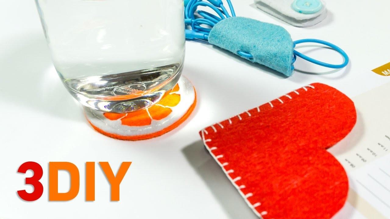 ☑️ 3 Easy DIY Ideas | Felt Craft Tutorials |  HandiWorks #114