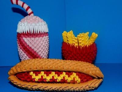 3D Origami Fries tutorial || DIY paper Fries