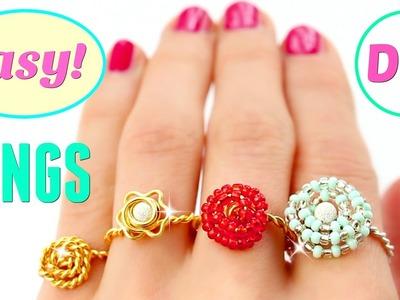 4 DIY rings | Adjustable & SUPER EASY!!! | DIY Easy rings