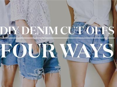 4 Ways to Make DIY Denim Cut Off Shorts