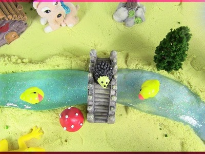 A Peaceful DIY Country Glitter Slime River Fantasy Scene | Miniature Creation |  Slime Asmr