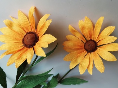 ABC TV | How To Make Rudbeckia Paper Flower From Crepe Paper - Craft Tutorial