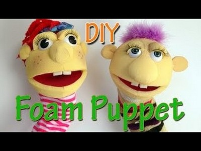 Ana DIY Crafts - How to make a Foam Puppet Ana | DIY Crafts.