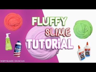 BEST FLUFFY SLIME TUTORIAL EASY DIY!