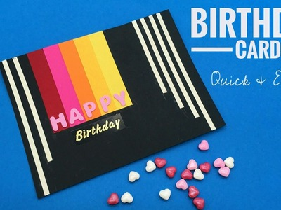 Birthday Card - Quick & Easy - DIY Tutorial by Paper Folds