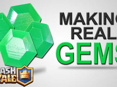 Building REAL GEMS - Clash Royale - How to get or make Gems DIY Tutorial