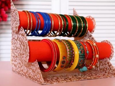 Cardboard Crafts   DIY Bangle Stand   Bracelet Holder   Jewelry Organizer