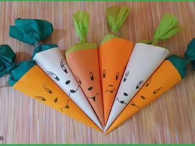 Carrot Style Gift Packing | DIY | Just Craft | Easy