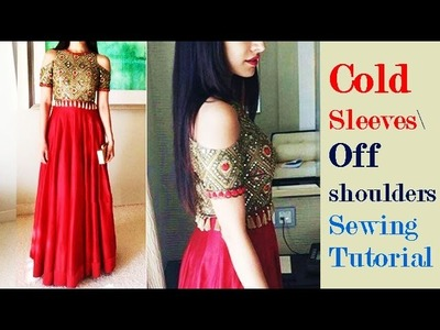 COLD Sleeves \ Off Shoulders Sewing Tutorial DIY COLD Sleeves