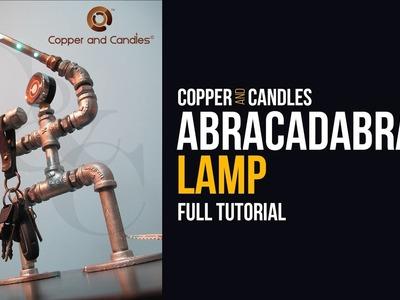 Copper Pipe LED light Tutorial DIY Galvanized Pipe Key holder Lamp