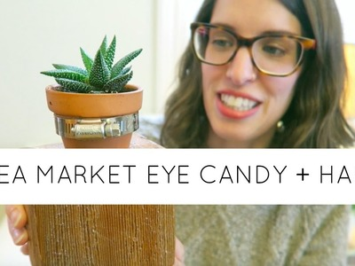 Craft and Flea Market Vlog | Vintage, Home Decor and Plant Haul