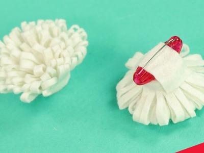 Crafts for Girls- Flower Brooch DIY Tutorial