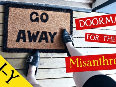 D-I-Y DOORMAT FOR THE MISANTHROPE || DIY Goth Home with ReeRee