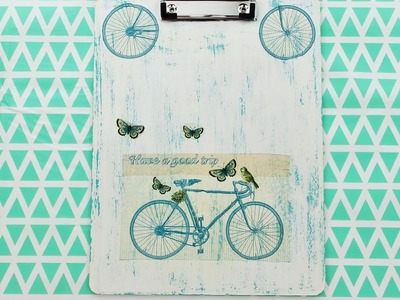 Decoupage Wooden Clipboard - Fast & Easy Tutorial - DIY