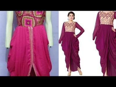 Dhoti dress DIY| Dhoti dress cutting and stitching step by step tutorial